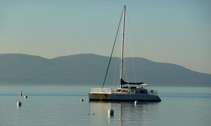 Sail Boat on Lake Tahoe