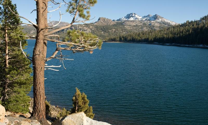 Caples Lake in the El Dorado National Forest near Lake Tahoe