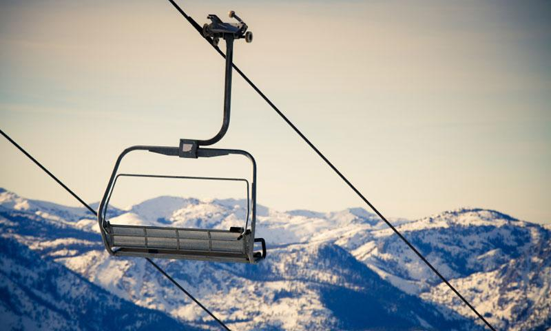 Chairlift at Heavenly Ski Resort at Lake Tahoe