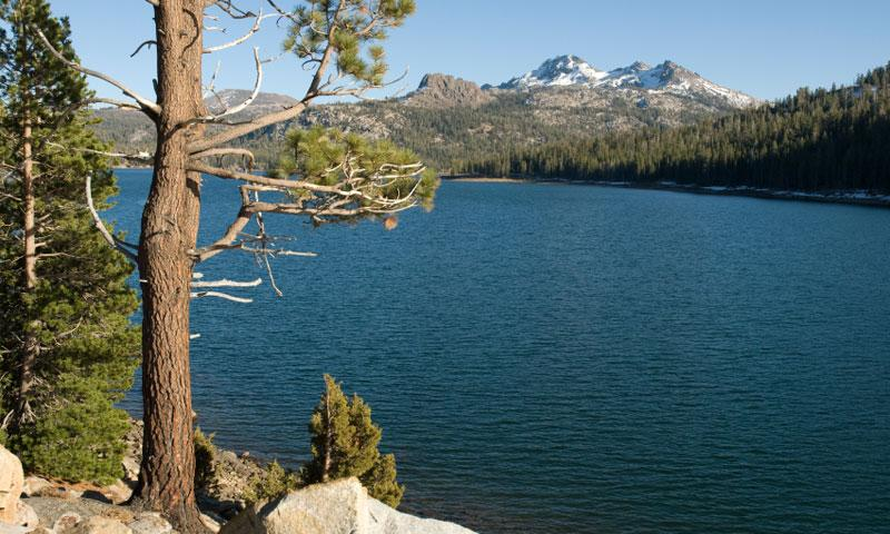 Caples Lake in the El Dorado National Forest near Lake Tahoe