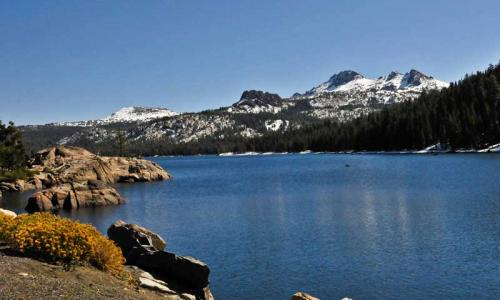 Caples Lake near Lake Tahoe