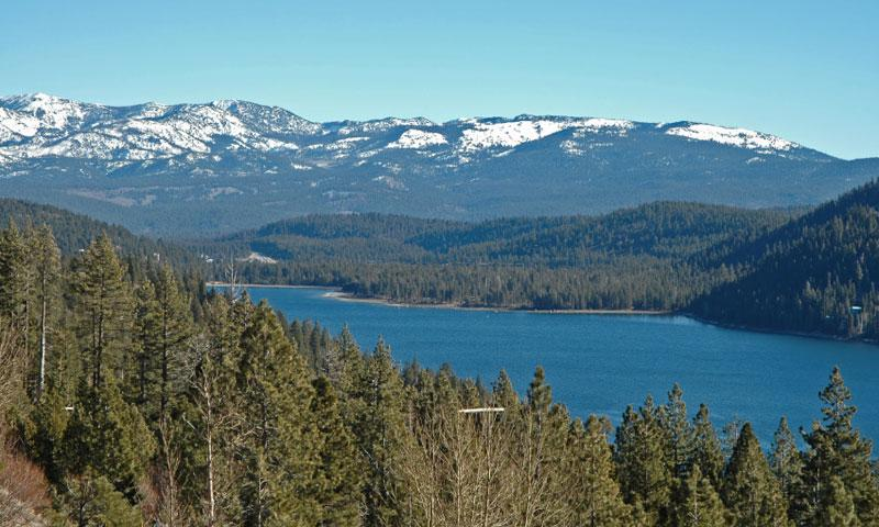 Overlooking Donner Lake in the Summer