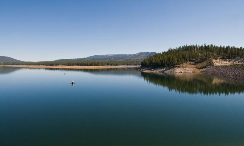 Stampede Reservoir in the Tahoe National Forest