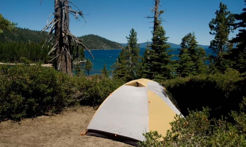 Campsite at Lake Tahoe California