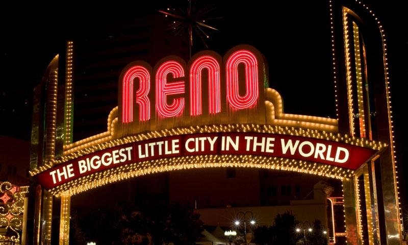 Entering Reno Nevada