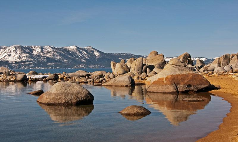 The Beach at Zephyr Cove on Lake Tahoe