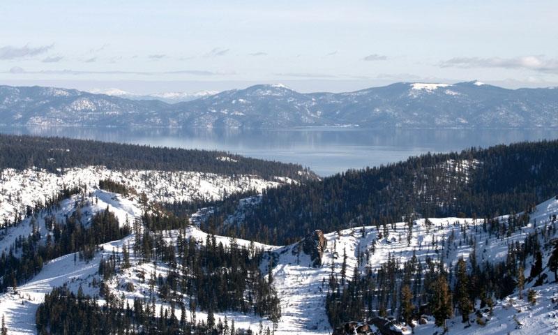 Runs at Squaw Valley Ski Resort at Lake Tahoe