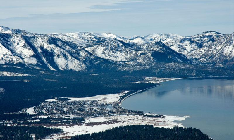South Lake Tahoe at the California Nevada Stateline