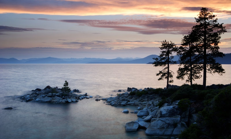 Overlooking a Point at Lake Tahoe Nevada State Park
