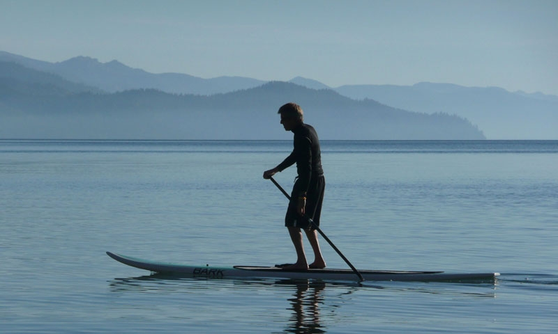 Paddle Boarding on Lake Tahoe