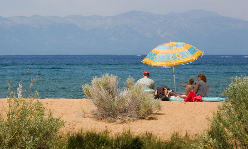 Family Picnic along the shores of Lake Tahoe
