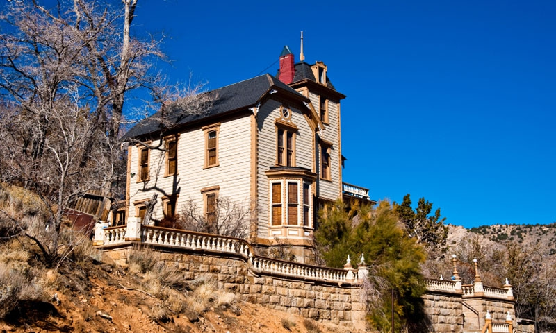 Historic Comstock Mansion in Virginia City Nevada