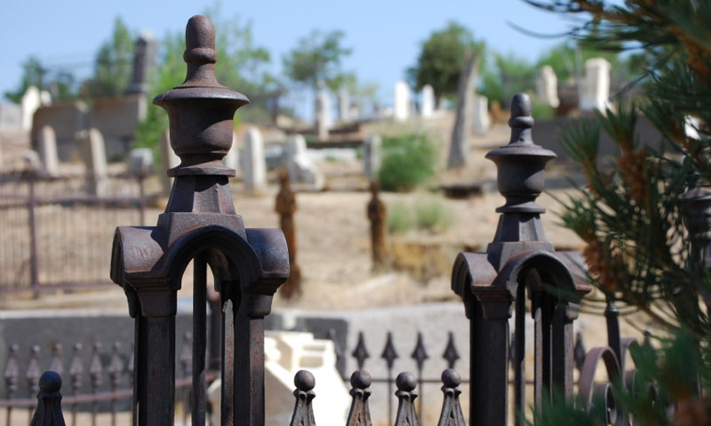 Cemetery in Historic Virginia City Nevada