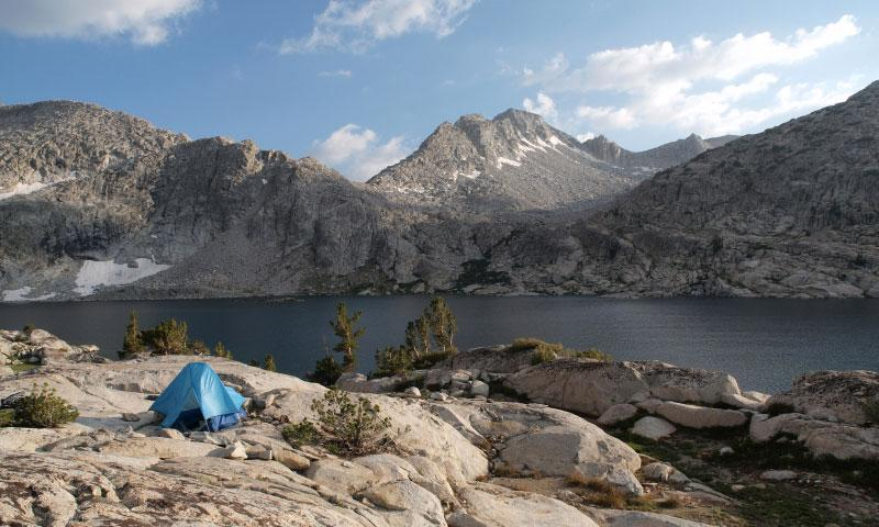 Camping by Three Island Lake in the John Muir Wilderness