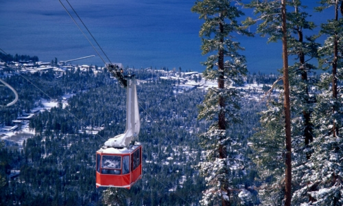 Heavenly Ski Resort Gondola Tram Lake Tahoe Skiing California