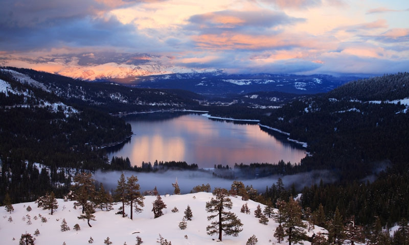 Overlooking Donner Lake near Truckee California